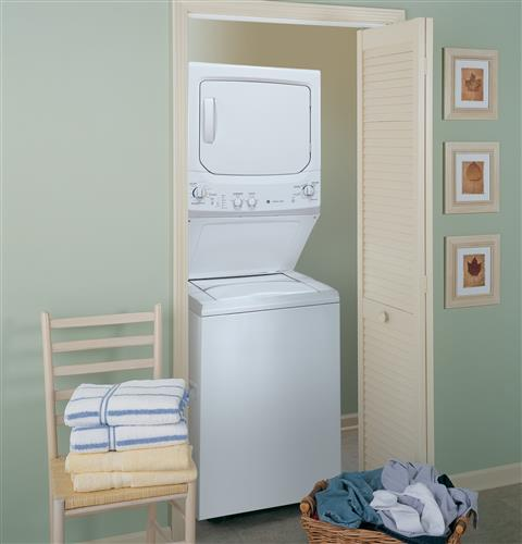 GE Unitized Spacemaker® 3.2 DOE cu. ft. Washer and 5.9 cu ... on
