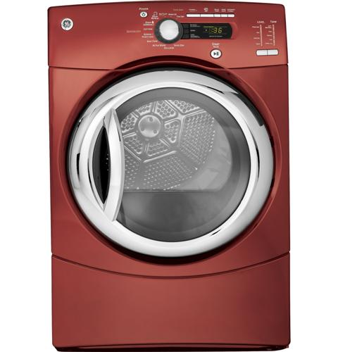GE®  7.5 Cu.Ft. Capacity Electric Dryer with Steam
