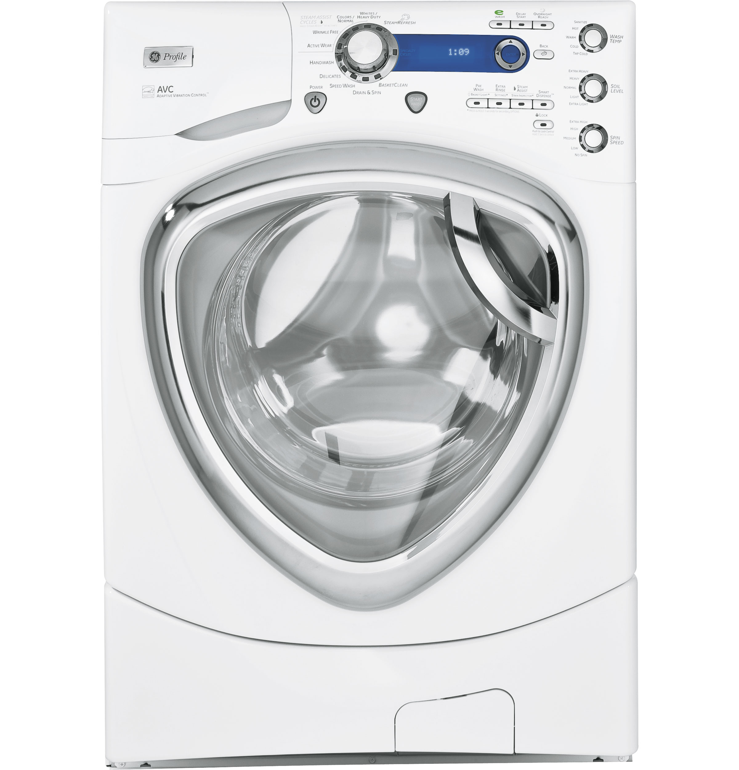 ge profile series 4 3 doe cu ft stainless steel capacity frontload washer with steam. Black Bedroom Furniture Sets. Home Design Ideas