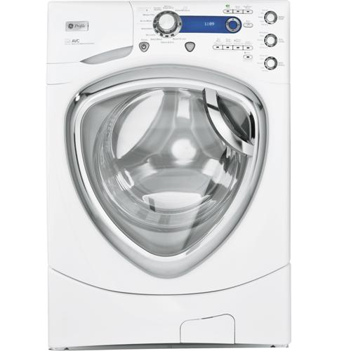 GE Profile™ Series 4.3 DOE cu. ft. stainless steel capacity frontload washer with Steam
