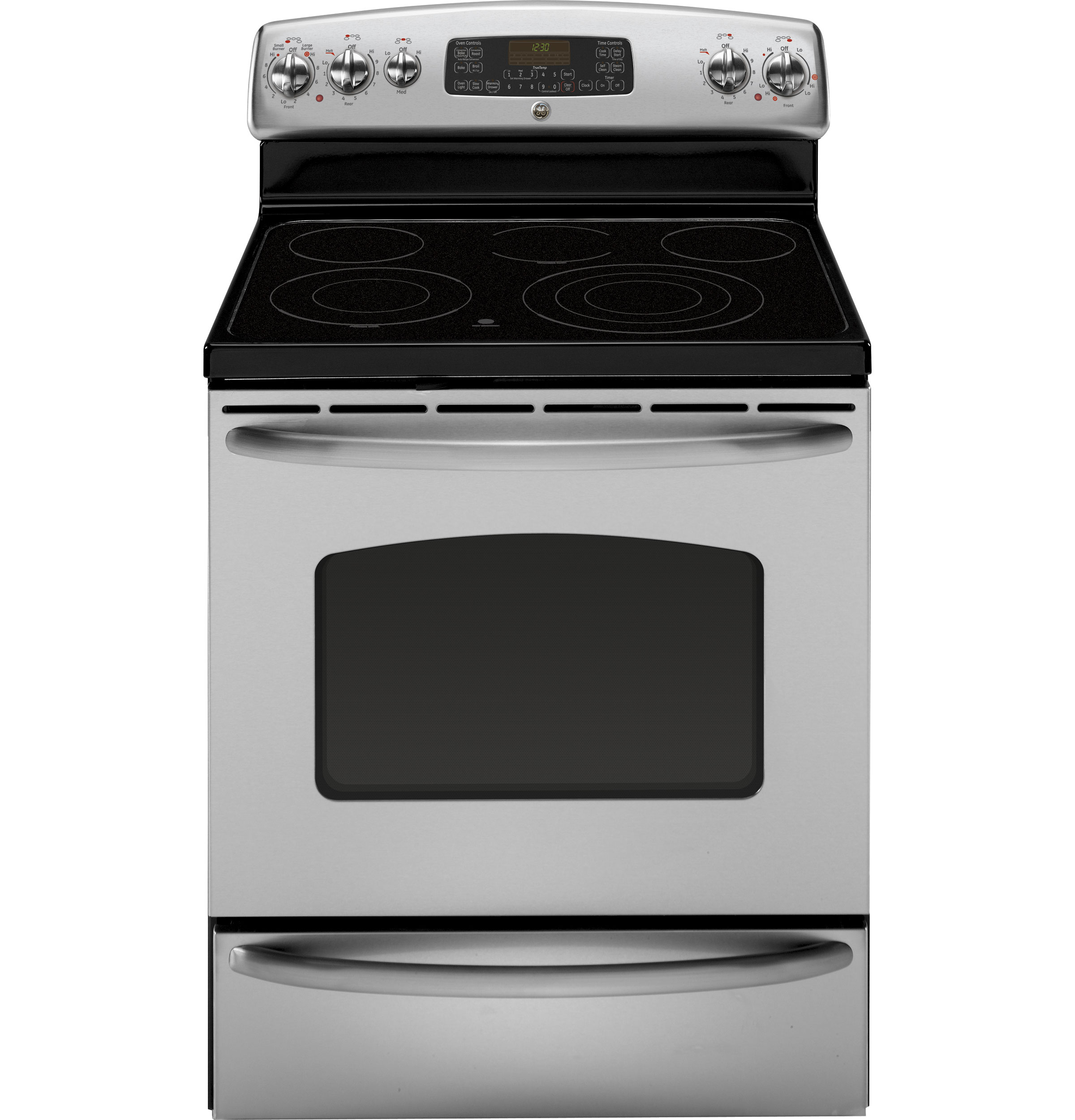 Ge Electric Stove ~ Ge quot free standing electric range with warming drawer