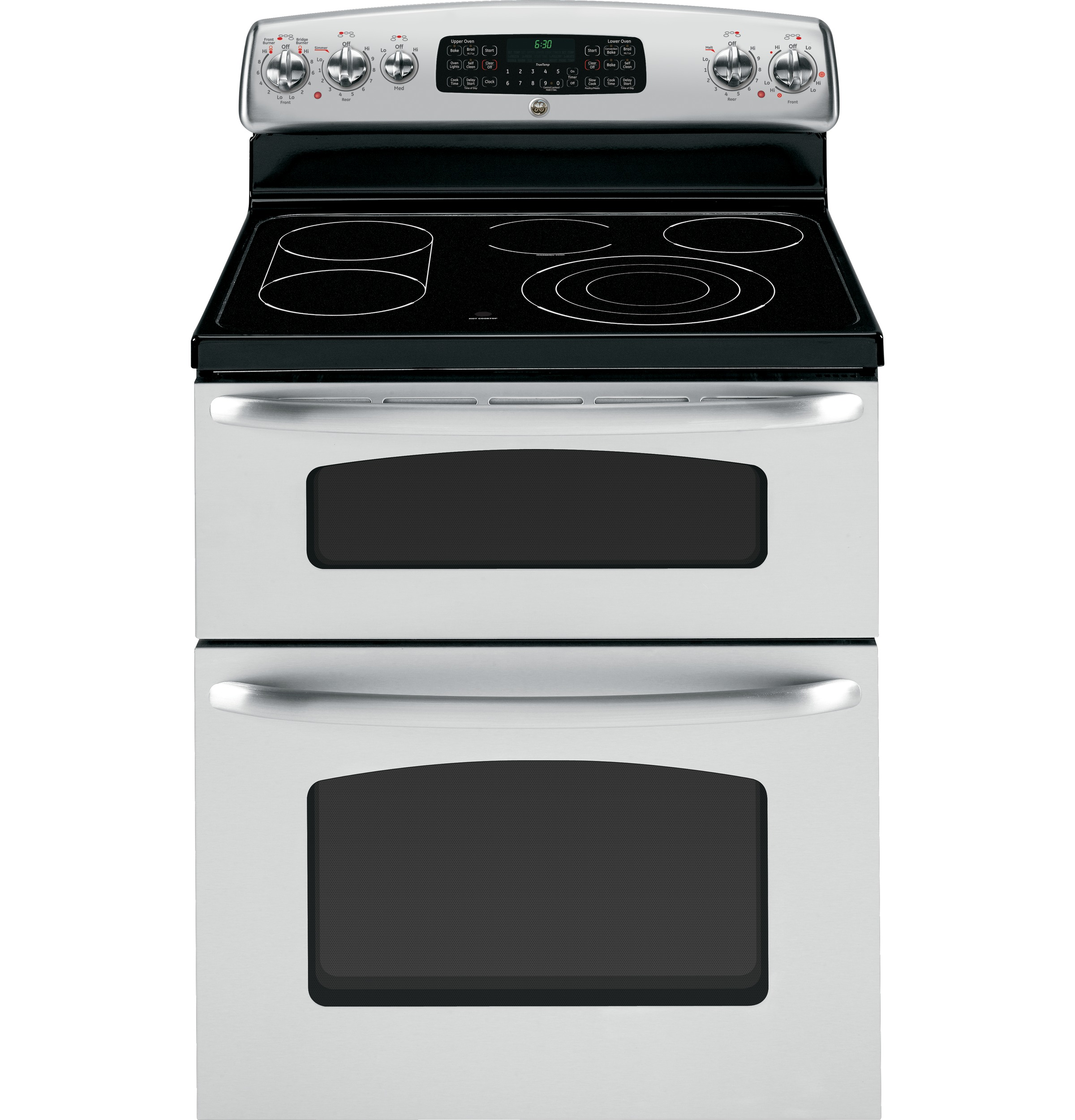 Electric Stoves Ranges ~ Ge quot free standing electric double oven convection