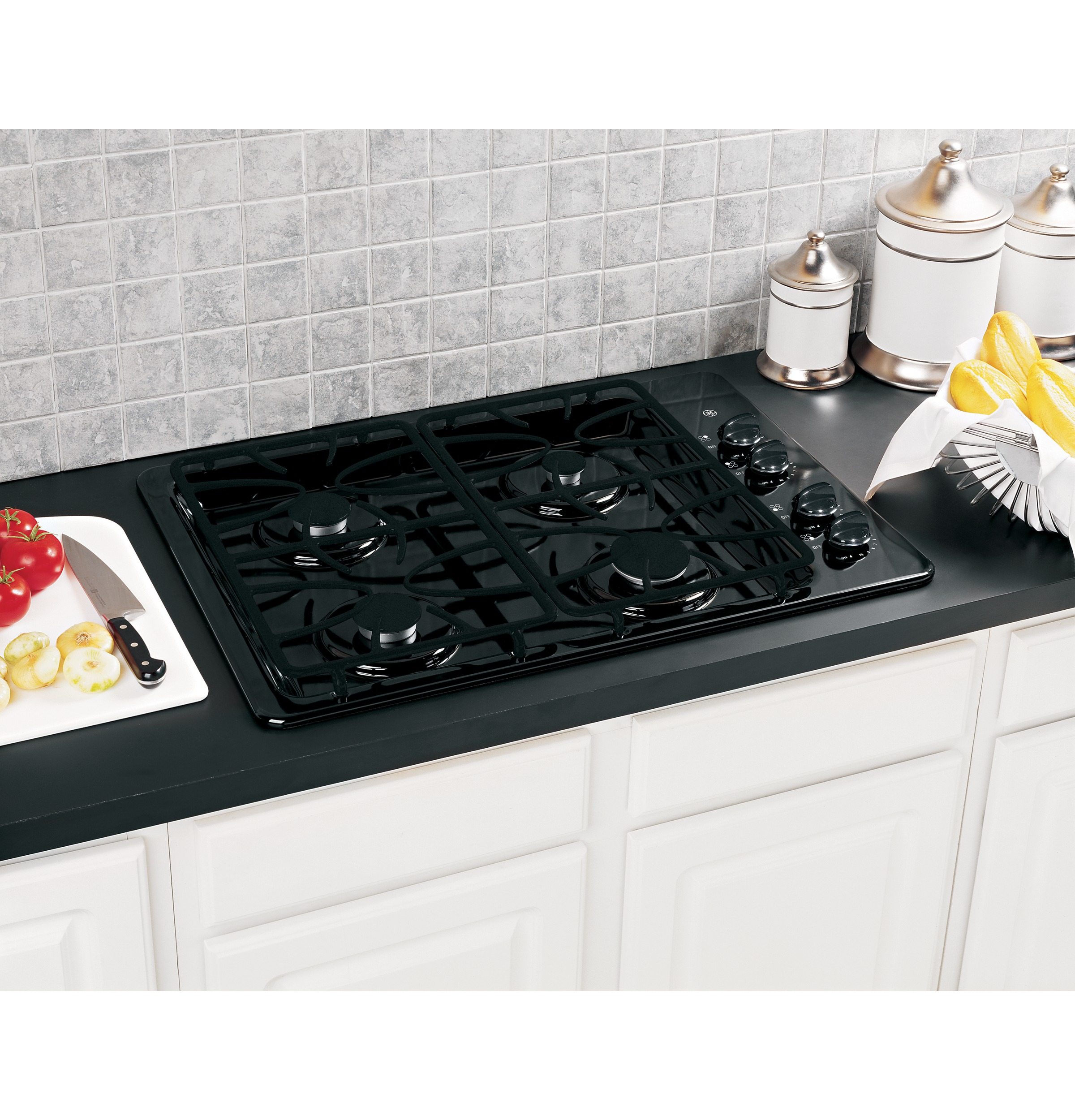 Built In Ge Cooktops ~ Ge quot built in gas cooktop jgp detbb appliances