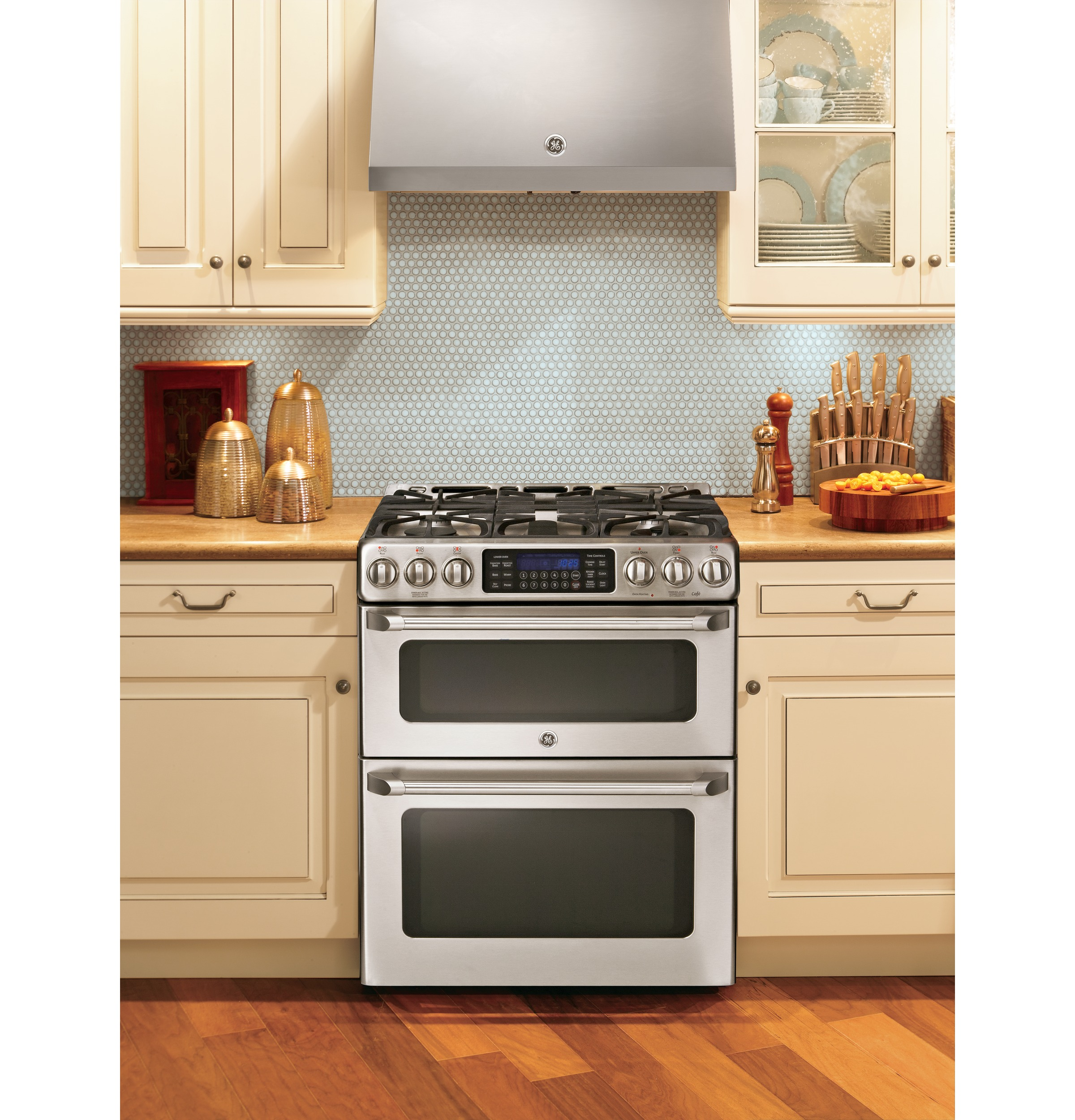 Ge Café Series 30 Slide In Front Control Gas Double Oven
