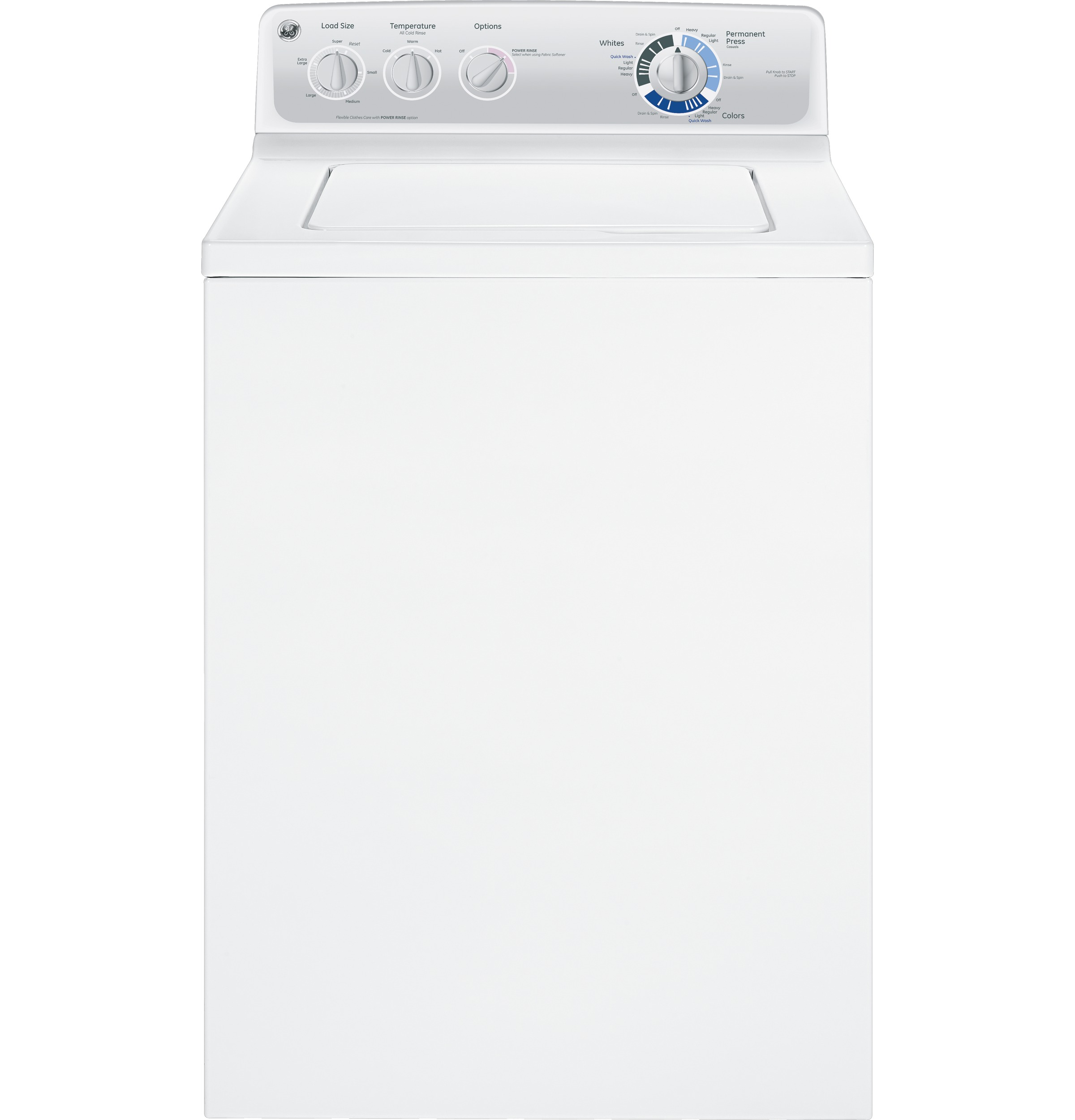 GE® 3.8 DOE cu. ft. stainless steel capacity washer | GLWN2800DWS ...