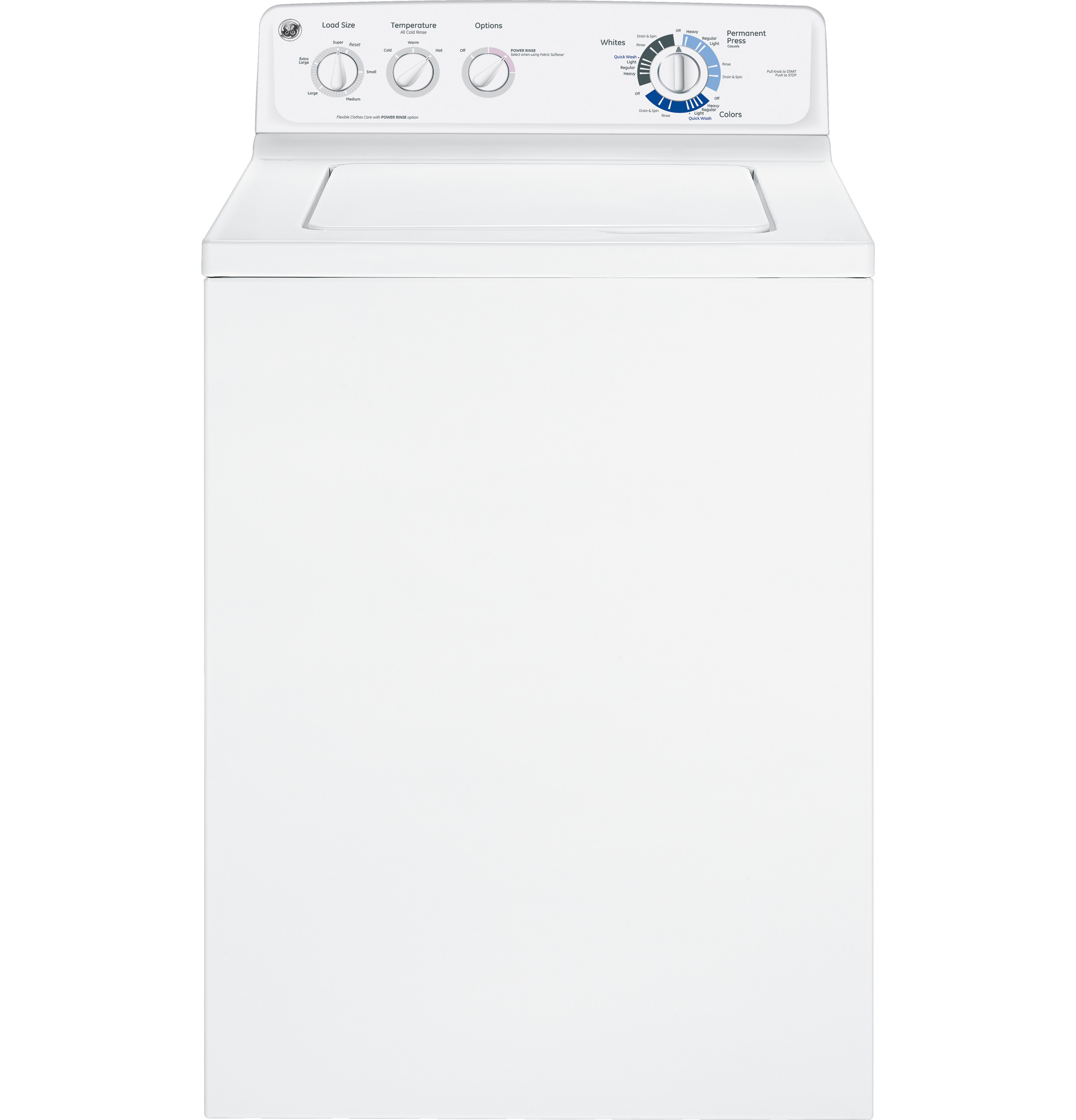 Ge 38 Doe Cu Ft Stainless Steel Capacity Washer Gtwn2800dww General Electric Commercial Wiring Diagram Product Image