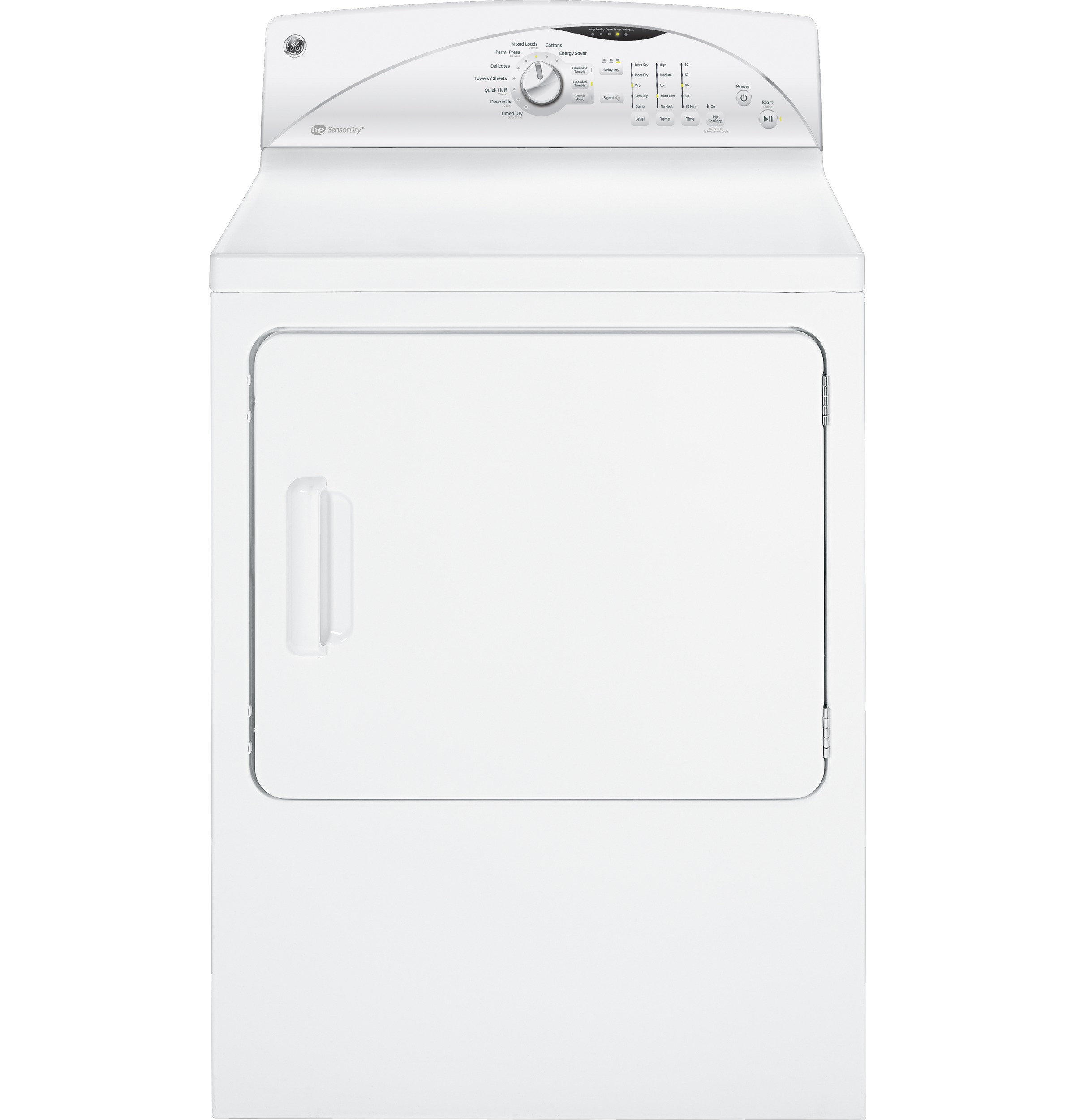 Ge 70 Cu Ft Capacity Dura Drum Electric Dryer With He Sensordry Wire And 4wire Cord Installation Clothes Product Image