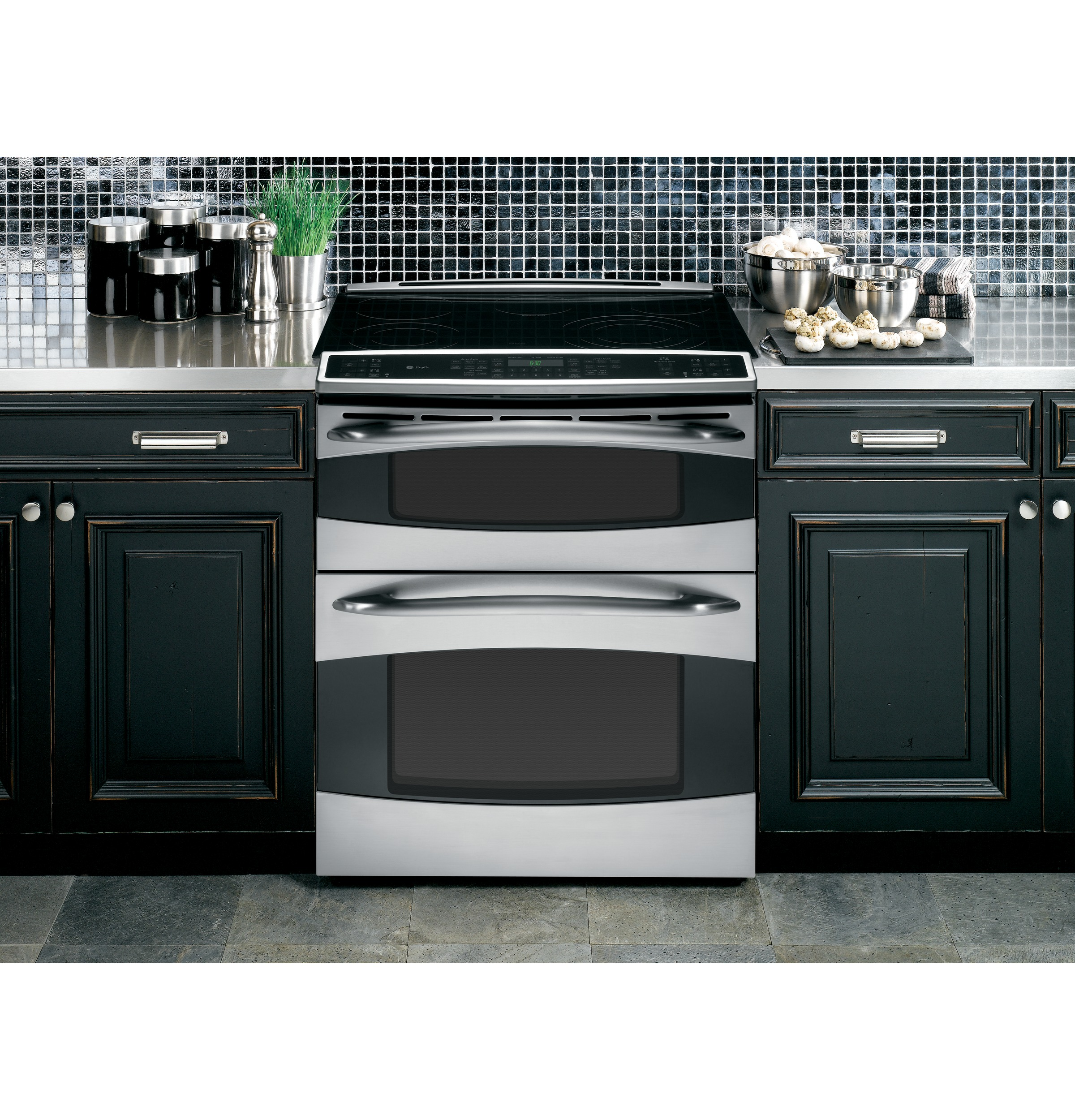 Ge Profile Slide In Double Oven Electric Range