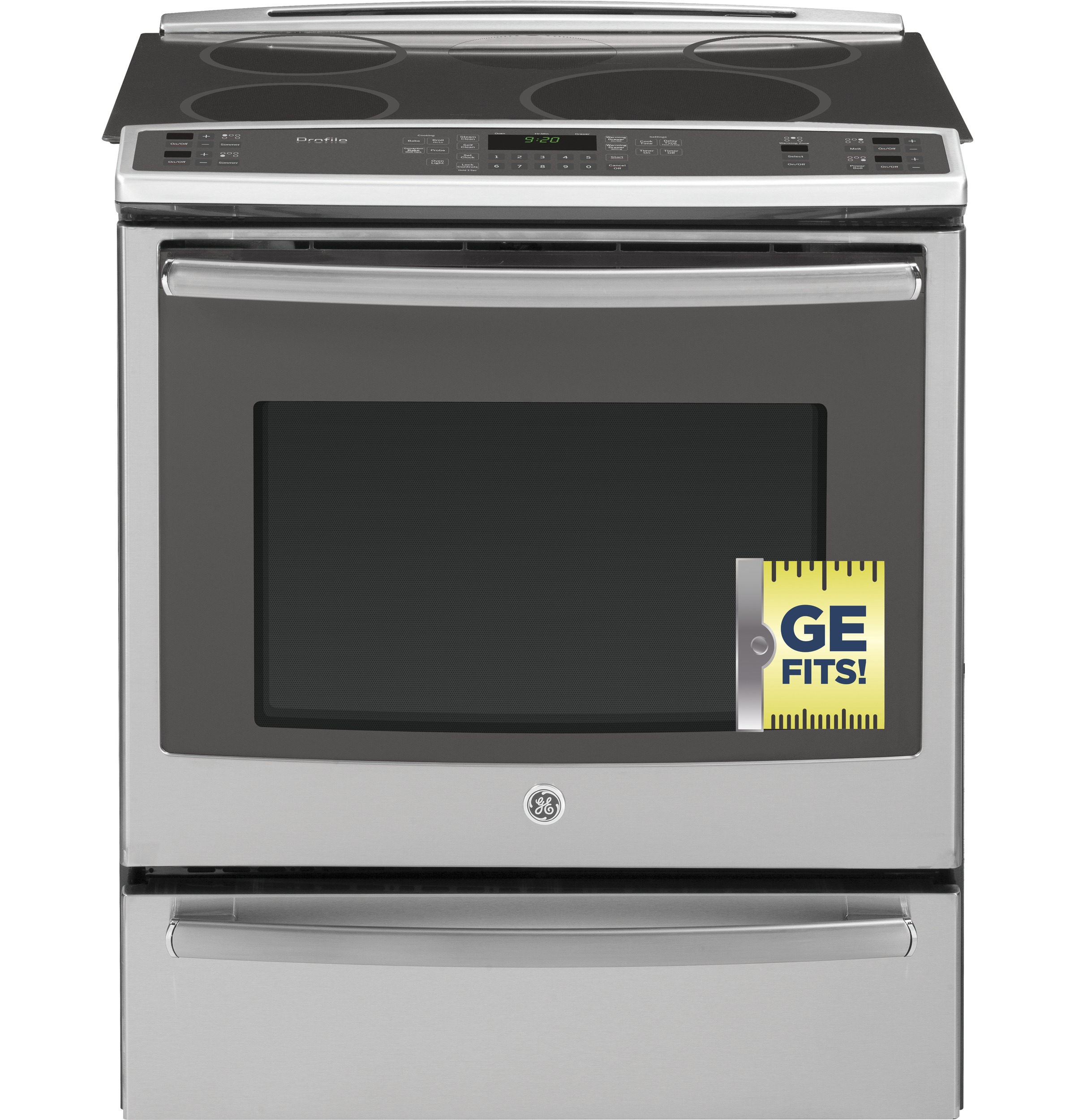 """ge profileâ""""¢ series 30 slide in front control induction and product image"""