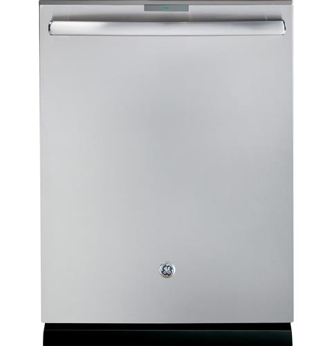 GE Profile™ Series Stainless Steel Interior Dishwasher with Hidden Controls– Model #: PDT855SSJSS