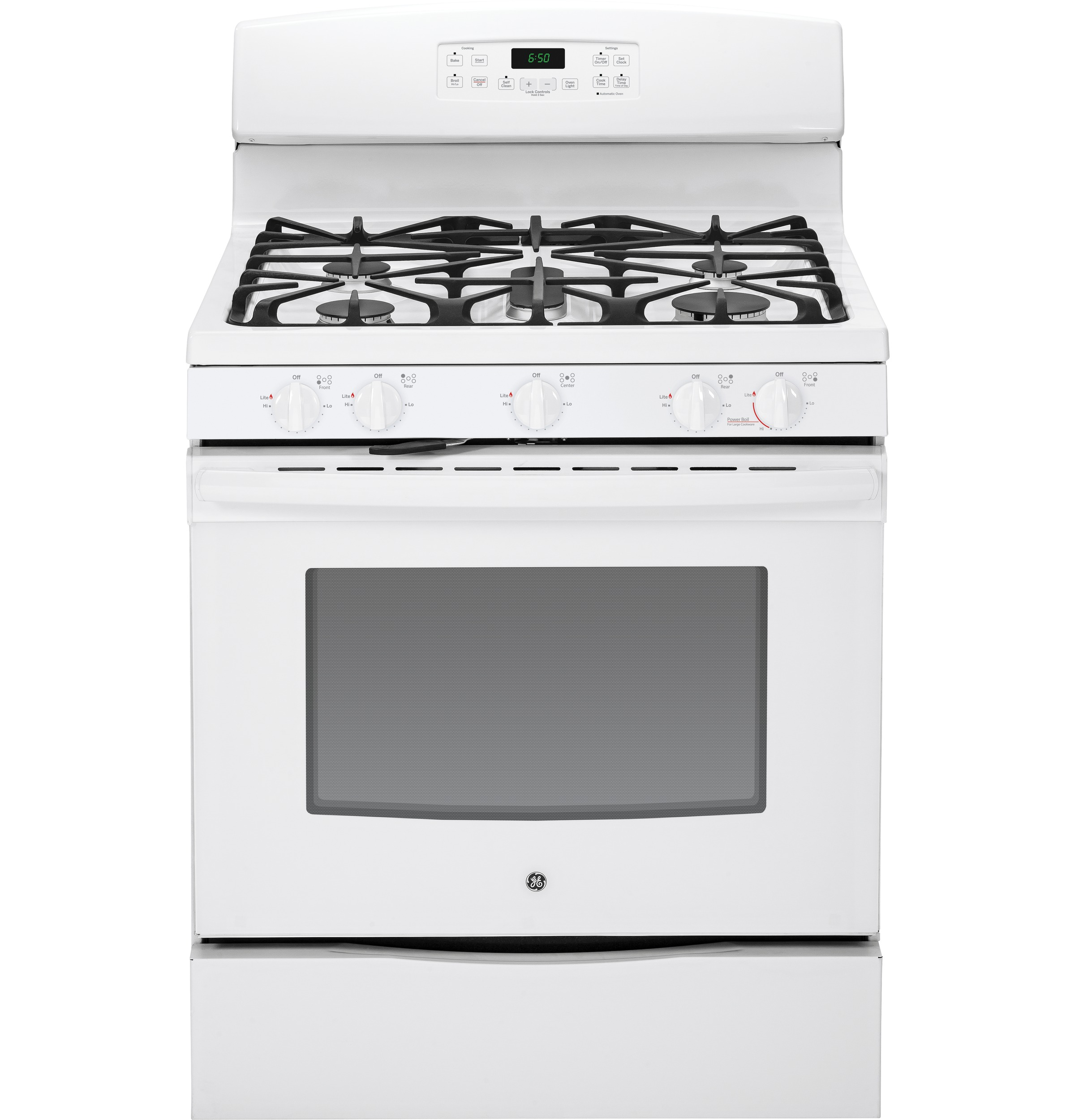 ge® 30 standing gas range jgb650defww ge appliances product image
