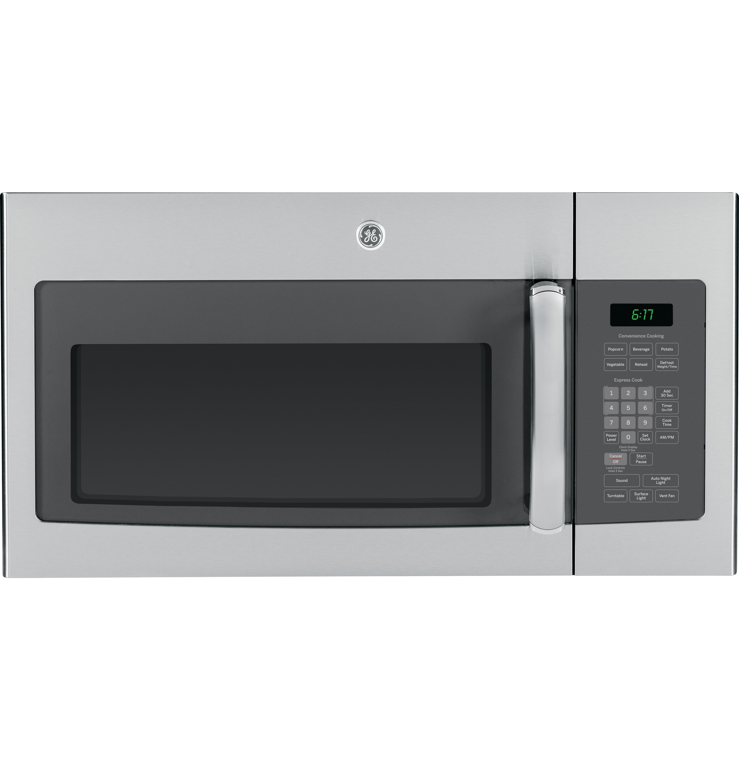 ge® series 1 7 cu ft over the range microwave oven jvm6172sfss product image