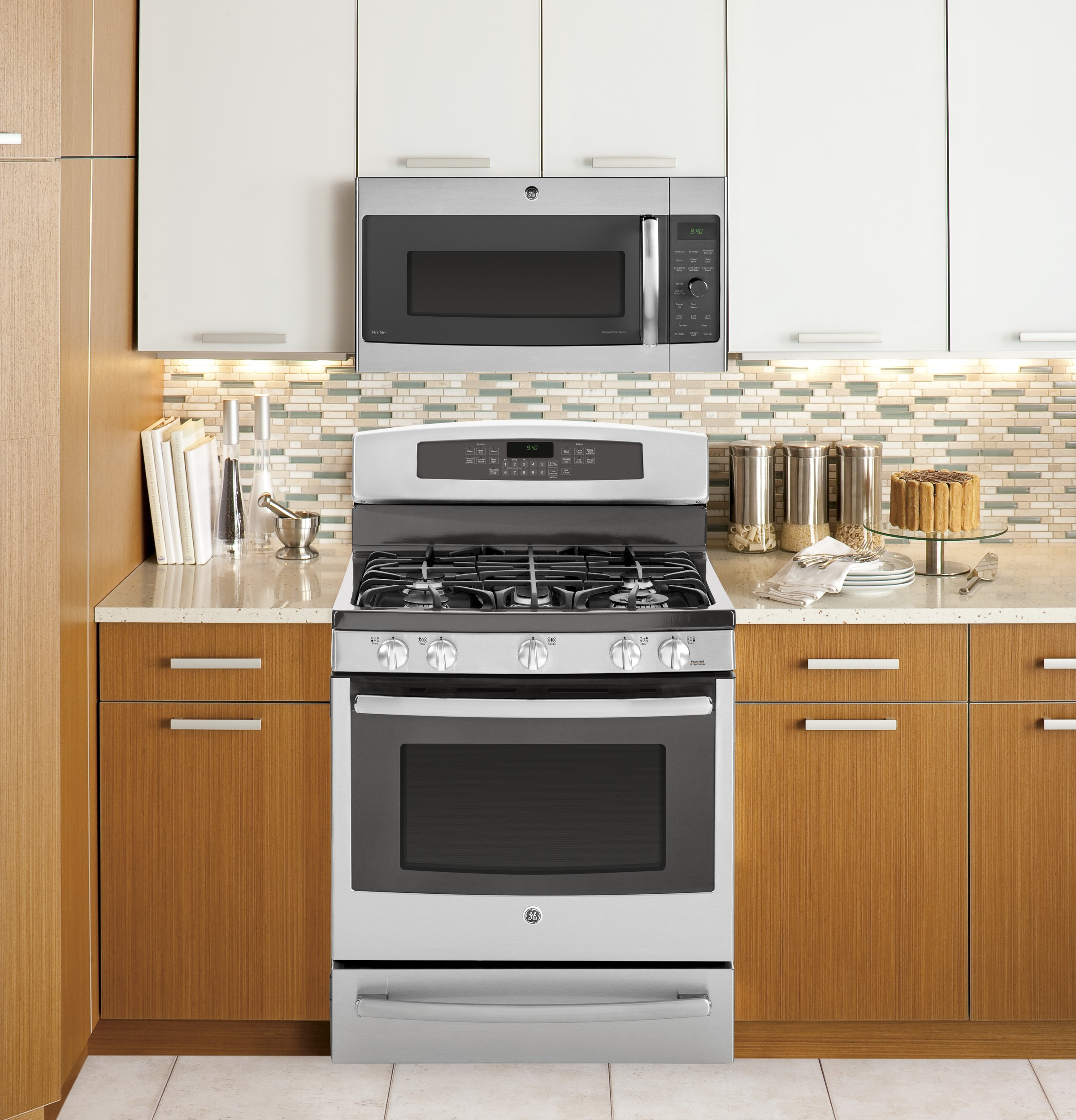 Over The Range Microwave Ovens: GE Profile™ Series 1.7 Cu. Ft. Convection Over-the-Range