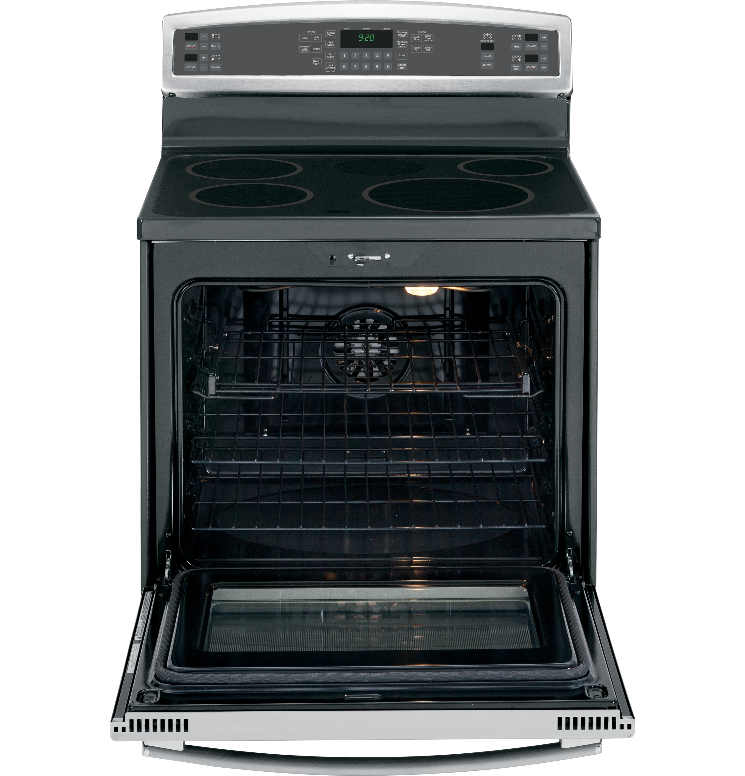 Ge Profile Series 30 Free Standing Induction And Convection Range White Cream In Cooker Product Image