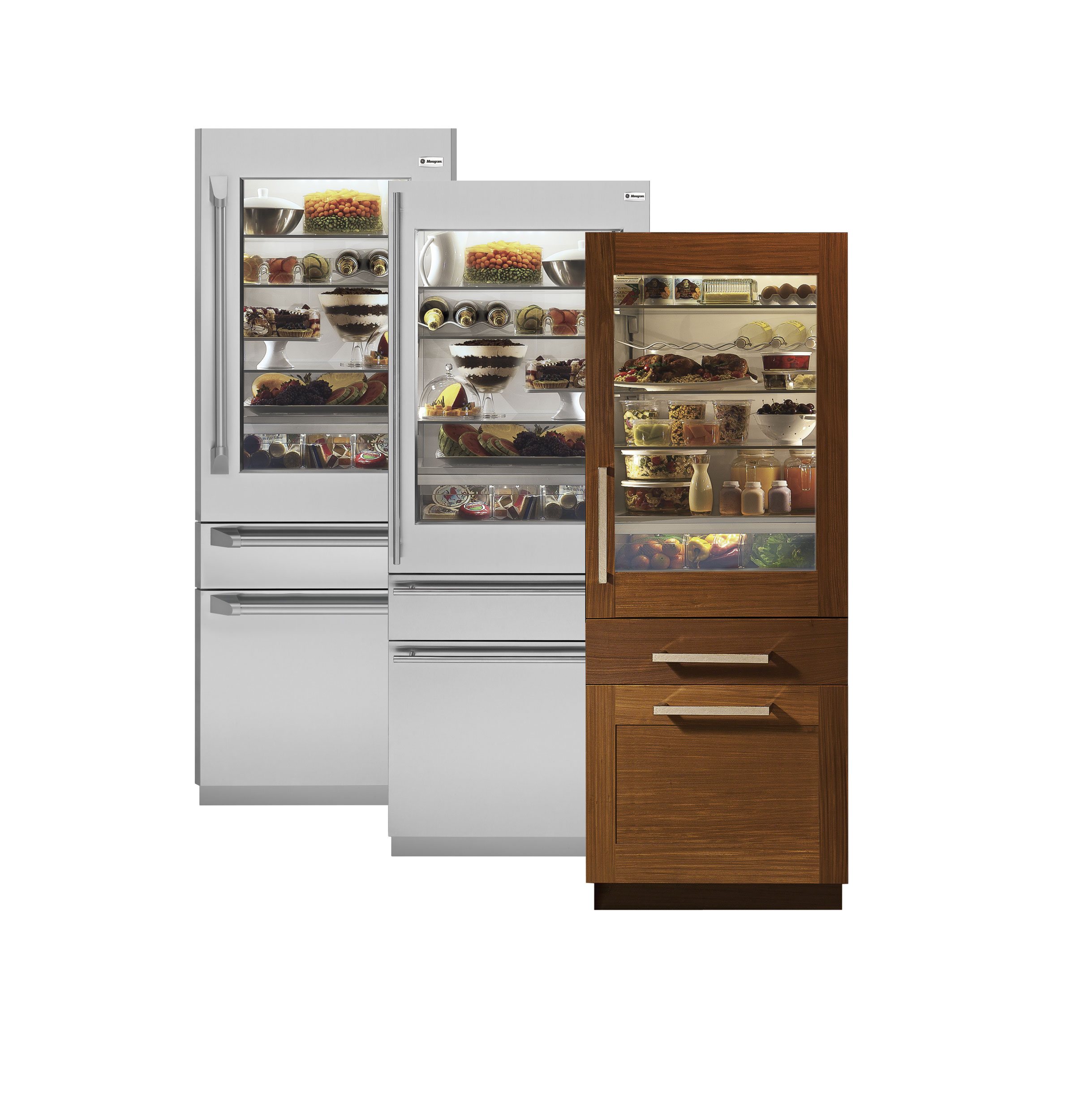 Monogram 30 Integrated Glass Door Refrigerator With