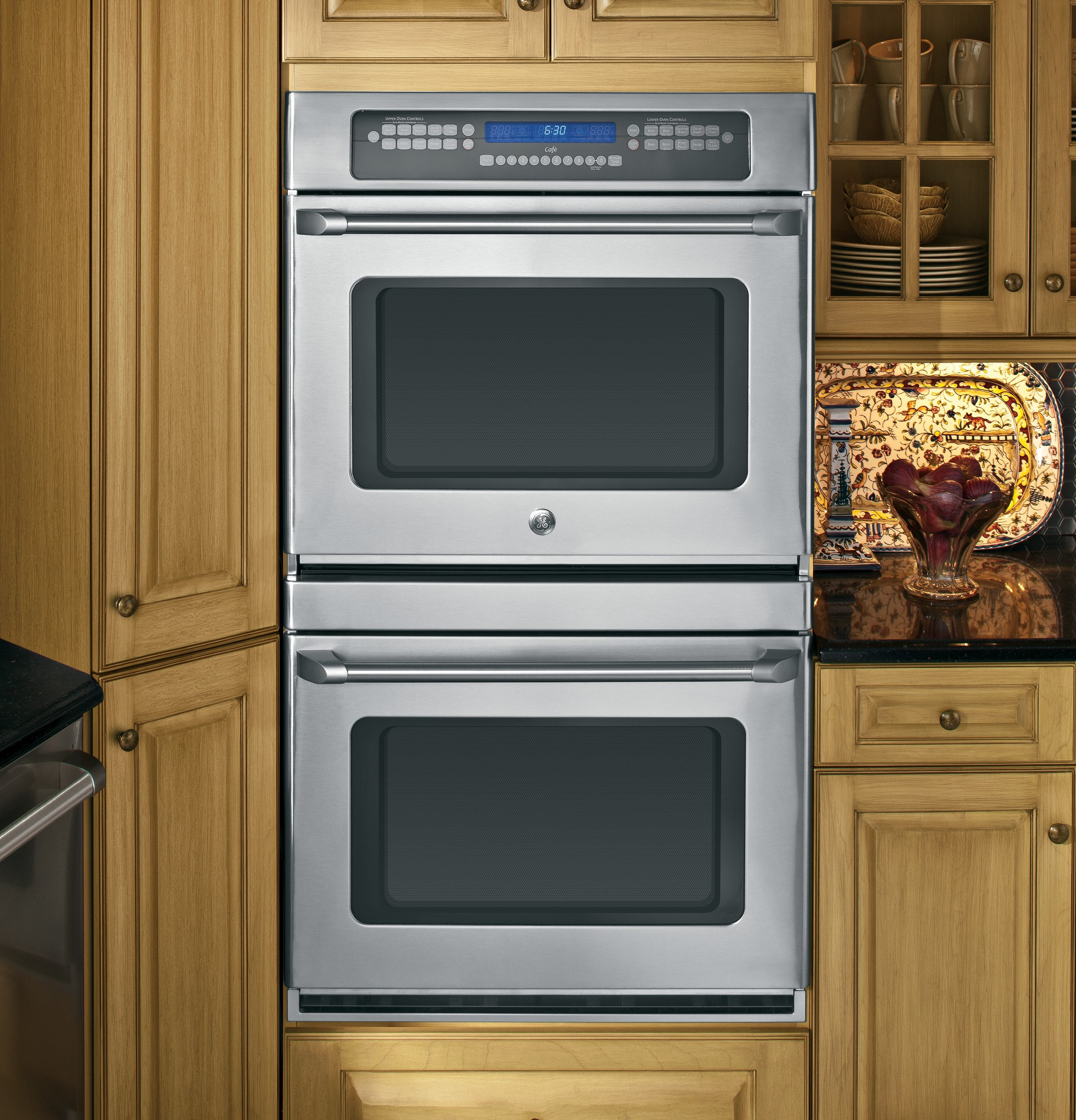 Double Wall Ovens ~ Ge café™ series quot built in double convection wall oven