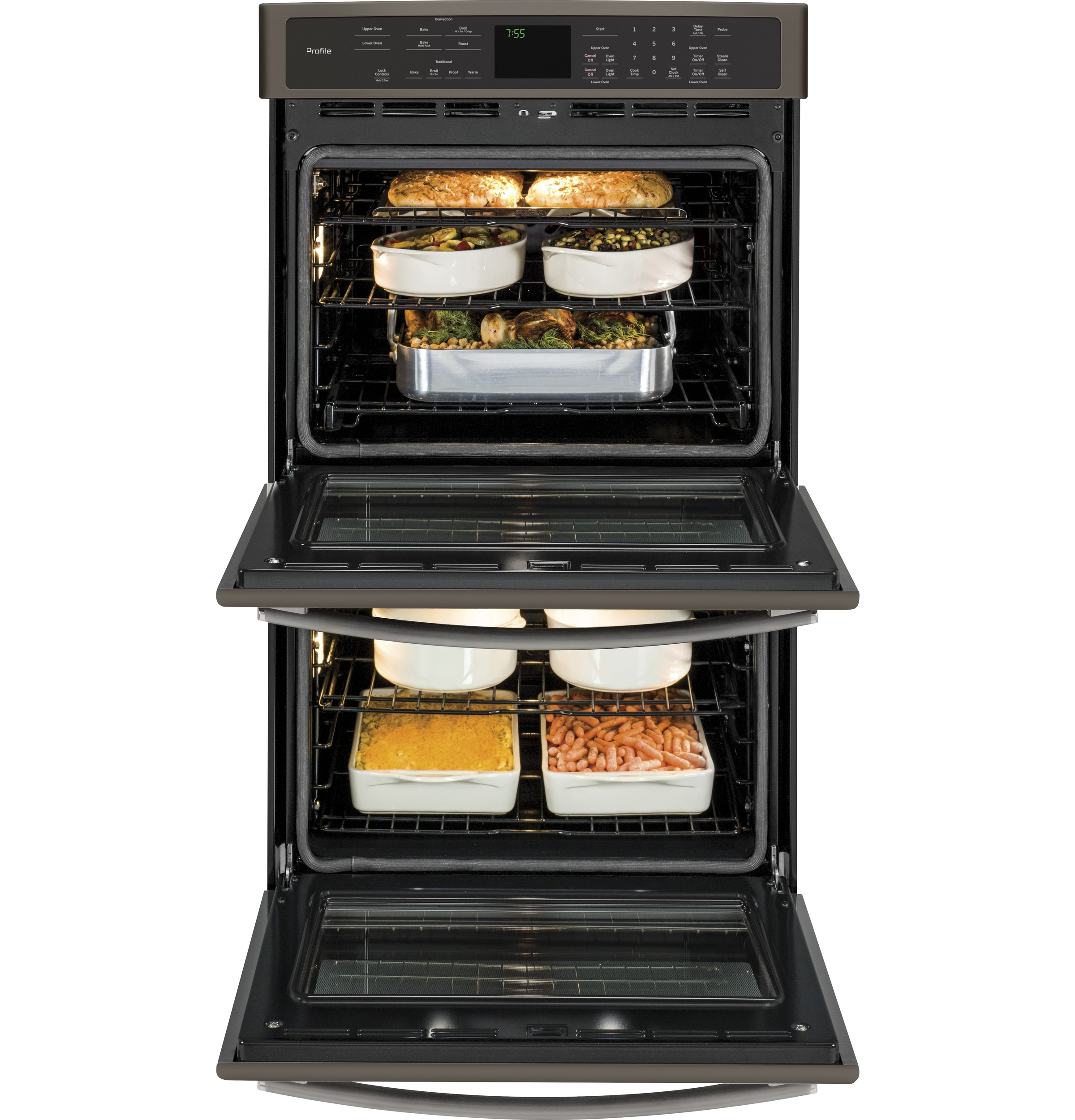 ge profile acirc cent series built in double wall oven convection product image