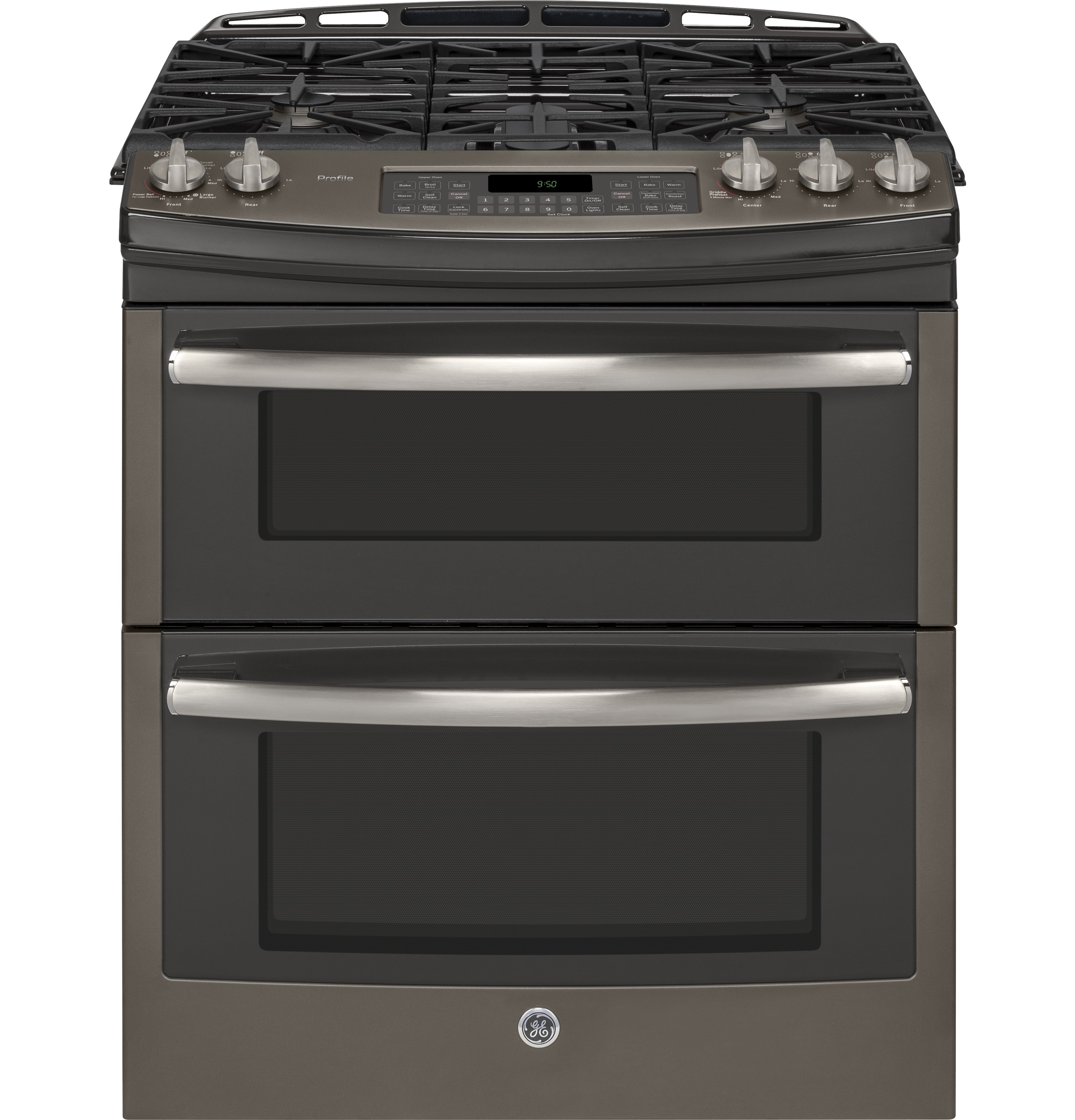 ge profile series 30 slide in front control double oven gas range pgs950eefes ge appliances. Black Bedroom Furniture Sets. Home Design Ideas