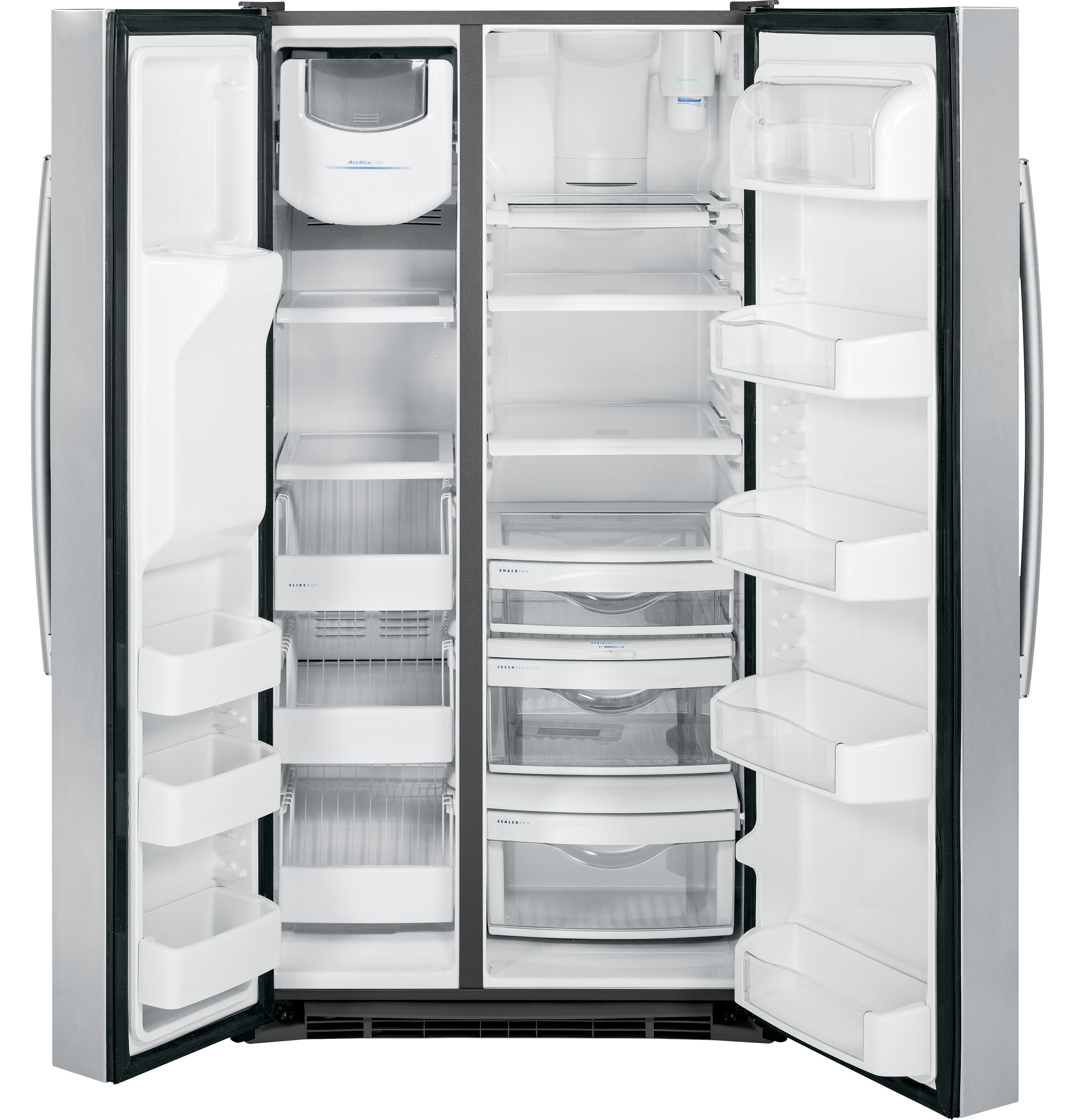 Ge 30 inch side by side white refrigerator - Product Image Product Image Product Image Product Image