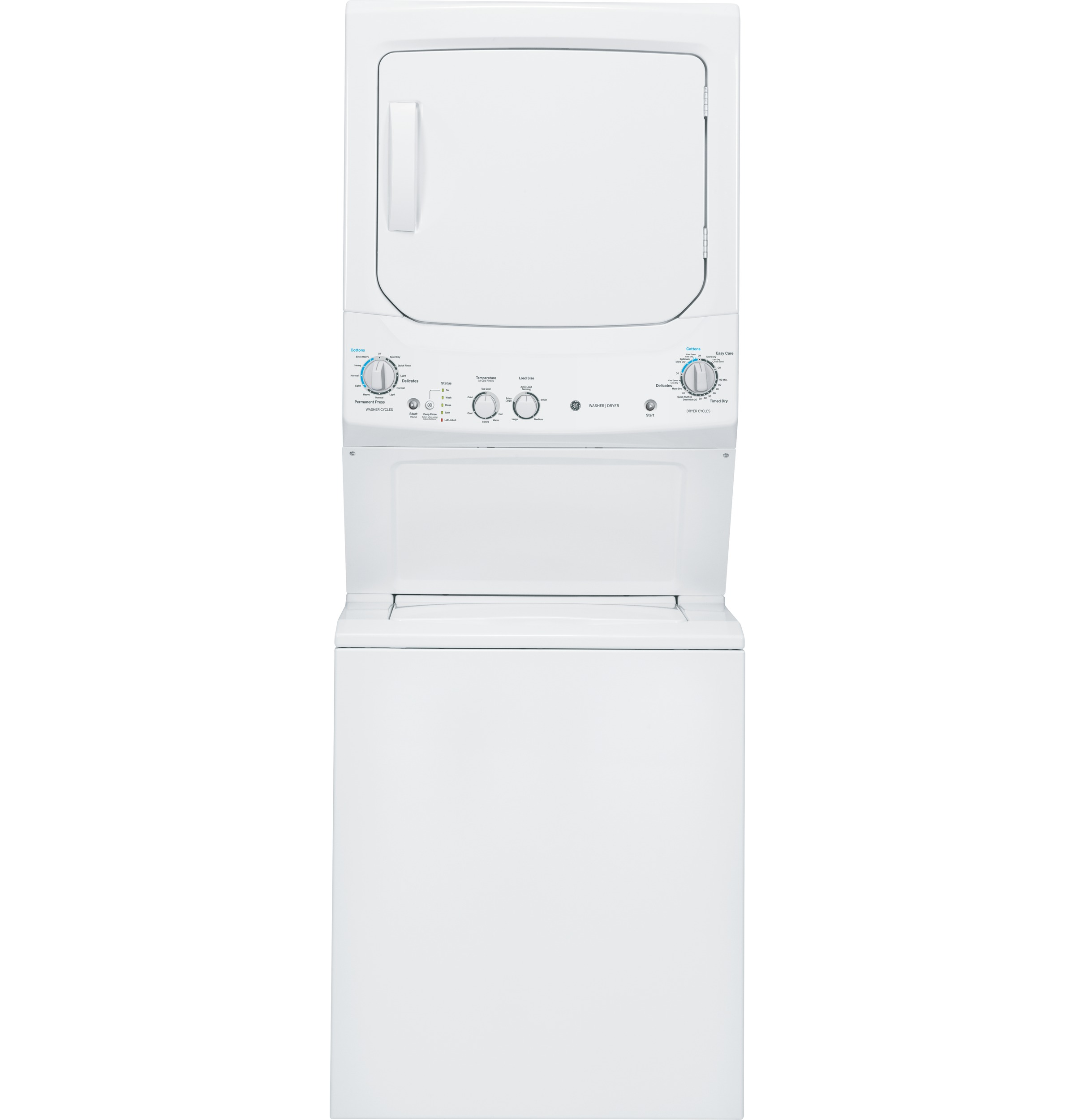 Ge Unitized Spacemaker 174 3 2 Doe Cu Ft Washer And 5 9 Cu