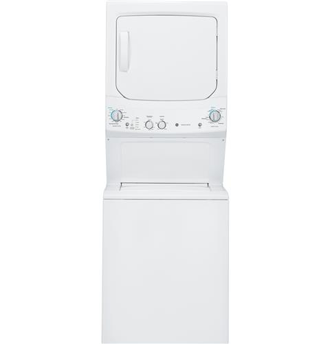 GE Unitized Spacemaker® 3.2 DOE cu. ft. Washer and 5.9 cu. ft. Gas Dryer– Model #: GUD27GSSJWW