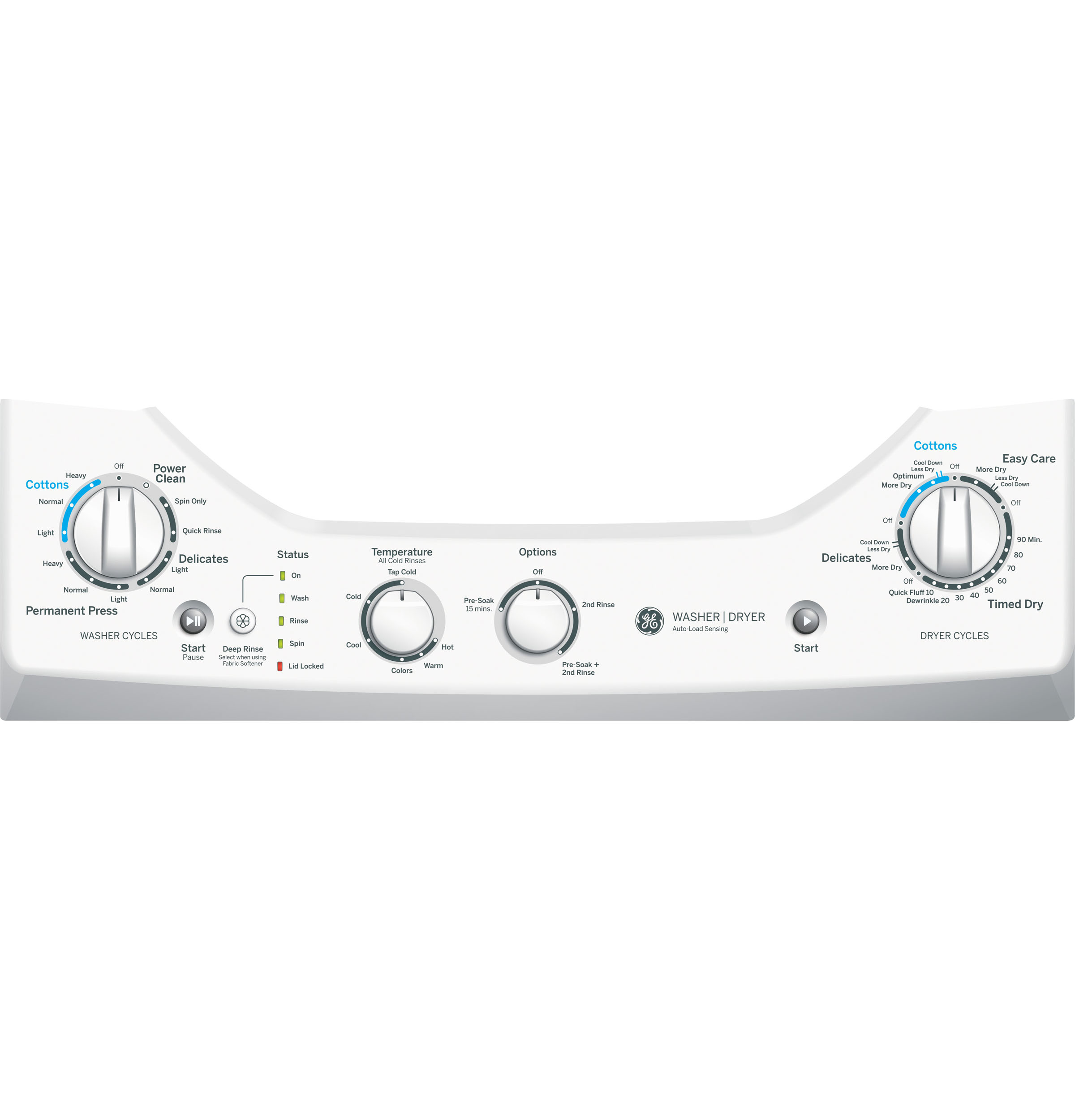 GE Unitized Spacemaker® 2.0 DOE cu. ft. Washer and 4.4 cu