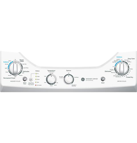 GE Unitized Spacemaker® 2.0 DOE cu. ft. Washer and 4.4 cu ... on
