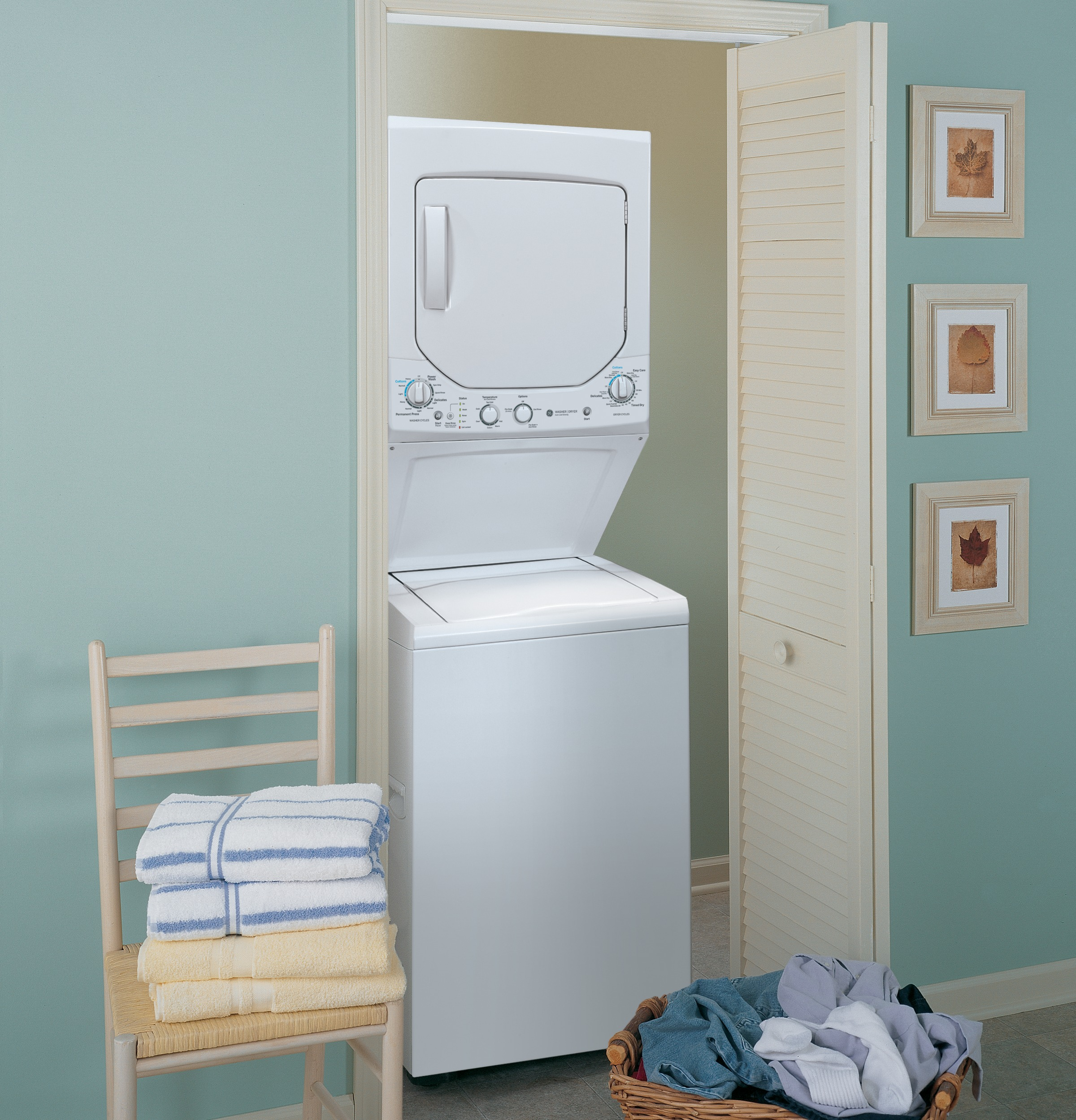 Washer And Dryer Dimensions Front Loading Ge Unitized Spacemakerar 20 Doe Cu Ft Washer And 44 Cu Ft