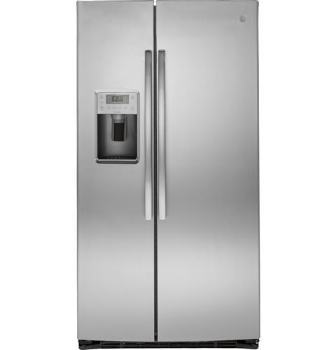 GE Profile™ Series ENERGY STAR® 25.3 Cu. Ft. Side-by-Side Refrigerator– Model #: PSE25KSHSS