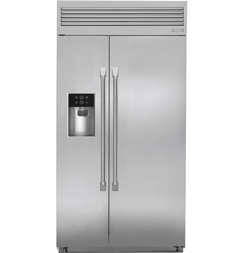 Zisp420dkss Monogram 42 Built In Professional Side By Refrigerator With Dispenser Liances