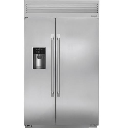 Zisp480dkss Monogram 48 Built In Professional Side By Refrigerator With Dispenser Liances