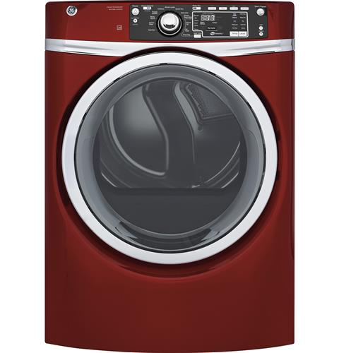 GE® 8.3 cu. ft. Capacity Front Load Electric ENERGY STAR® Dryer with Steam– Model #: GFD48ESPKRR