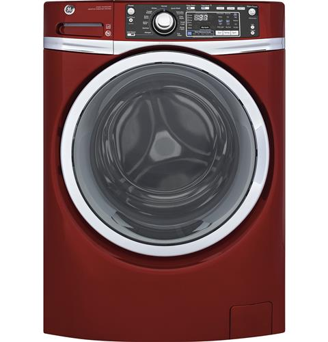 GE® 4.9 DOE cu. ft. Capacity Front Load ENERGY STAR® Washer with Steam– Model #: GFW480SPKRR