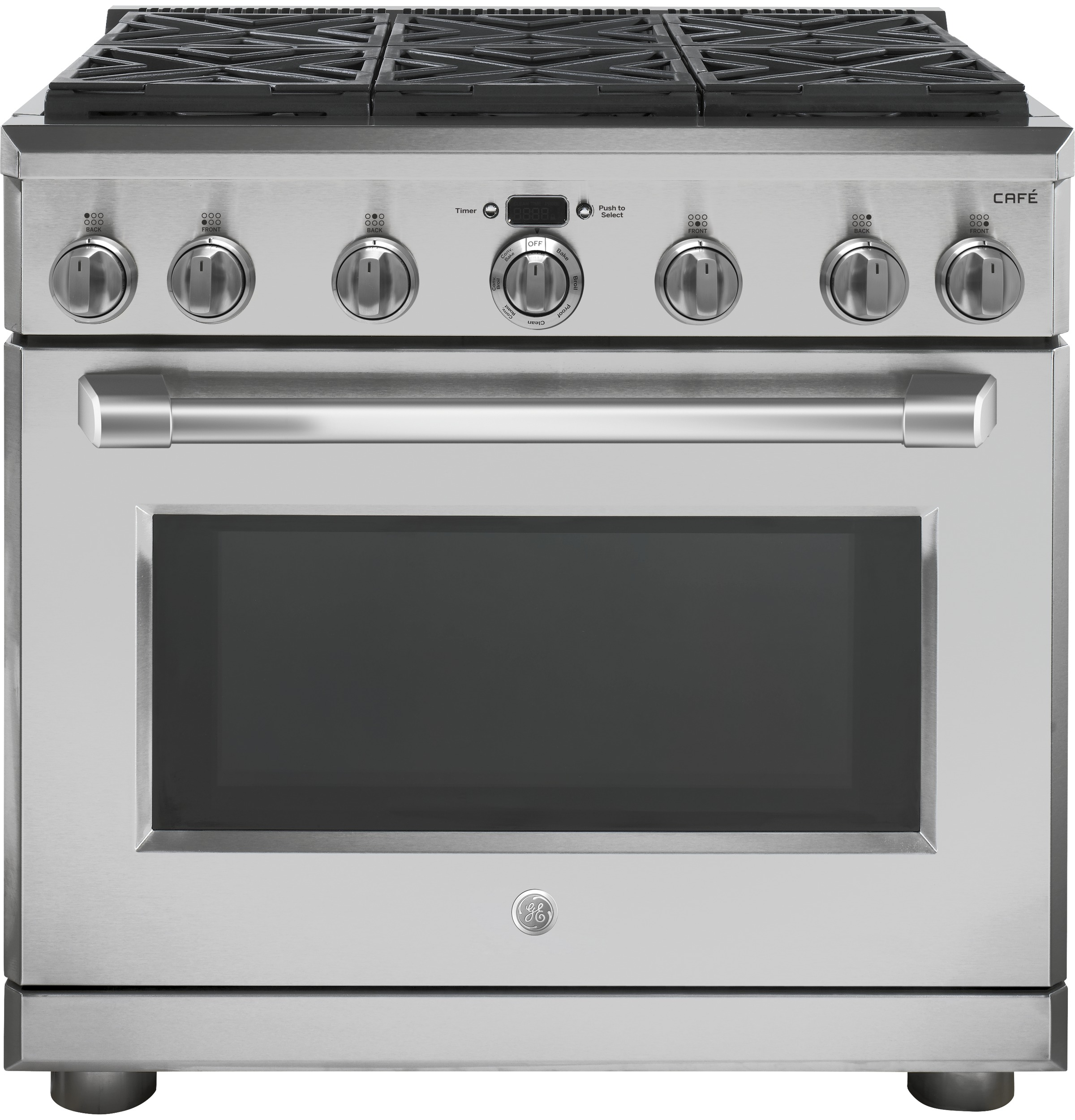 Ge Caf 233 Series 36 Quot Dual Fuel Professional Range With 6
