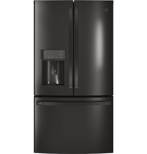 GE Profile™ Series ENERGY STAR® 22.2 Cu. Ft. Counter-Depth French-Door Refrigerator with Hands-Free AutoFill– Model #: PYE22KBLTS