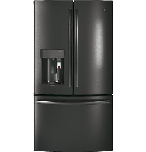 GE Profile™ Series ENERGY STAR® 22.2 Cu. Ft. Counter-Depth French-Door Refrigerator with Keurig® K-Cup® Brewing System– Model #: PYE22PBLTS