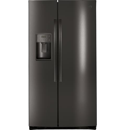 GE Profile™ Series ENERGY STAR® 25.3 Cu. Ft. Side-by-Side Refrigerator– Model #: PSE25KBLTS