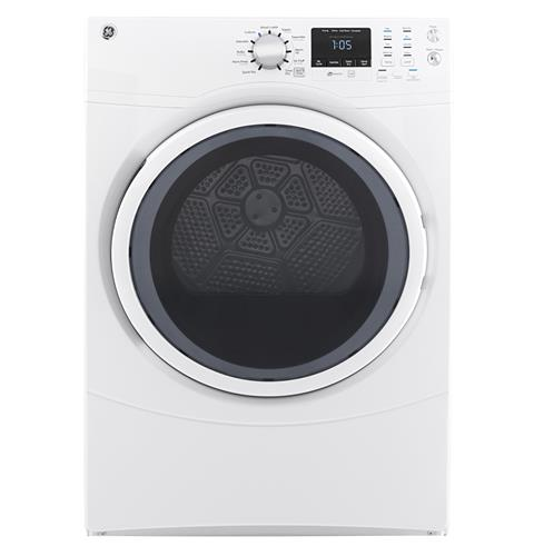 GE® 7.5 cu. ft. Capacity Front Load Electric Dryer– Model #: GFD43ESSMWW