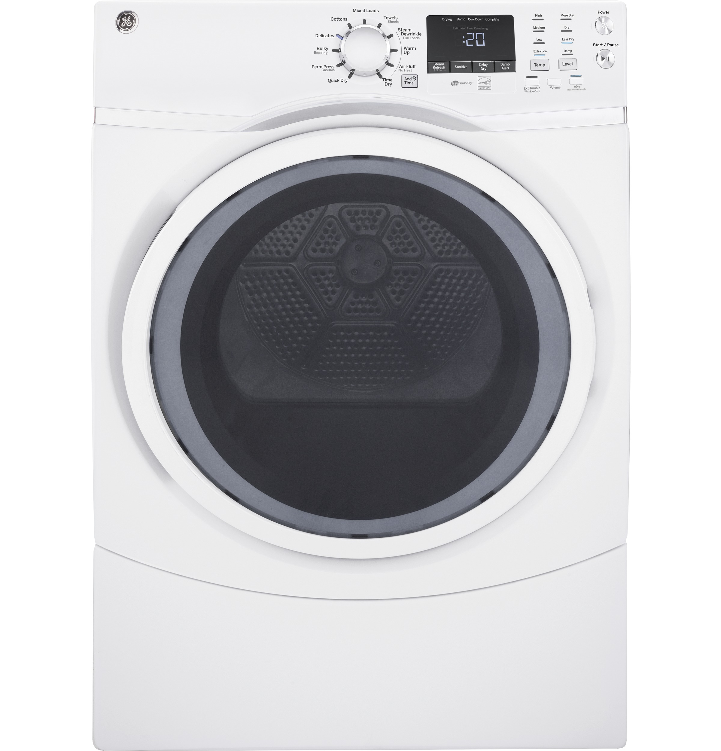 GE® 7 5 cu  ft  Capacity Front Load Electric Dryer with