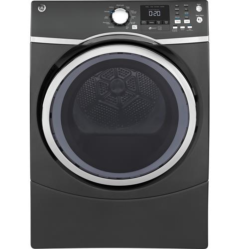 GE® 7.5 cu. ft. capacity Front Load electric dryer with steam– Model #: GFD45ESPMDG