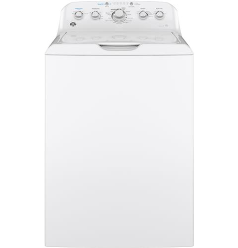 GE® 4.5 cu. ft. Capacity Washer with Stainless Steel Basket– Model #: GTW465ASNWW