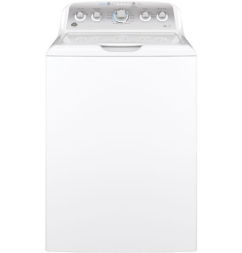 GE® 4.6 cu. ft. Capacity Washer with Stainless Steel Basket– Model #: GTW500ASNWS