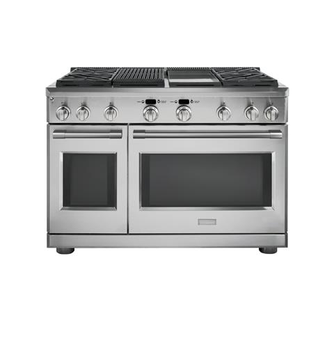 "Thumbnail of Monogram 48"" Dual-Fuel Professional Range with 4 Burners, Grill, and Griddle (Natural Gas)"