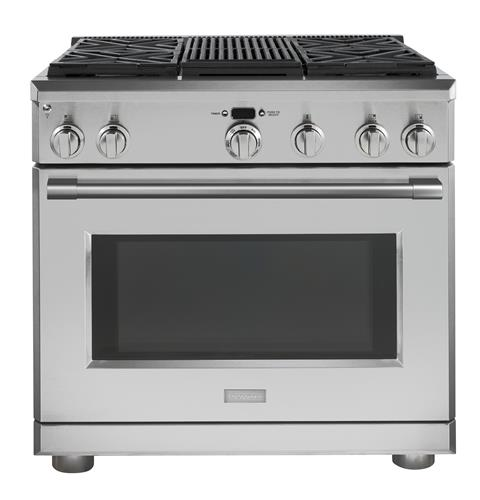 "Thumbnail of Monogram 36"" Dual-Fuel Professional Range with 4 Burners and Grill (Natural Gas)"