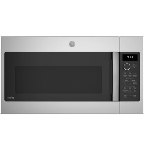 GE Profile™ 1.7 Cu. Ft. Convection Over-the-Range Microwave Oven– Model #: PVM9179SKSS