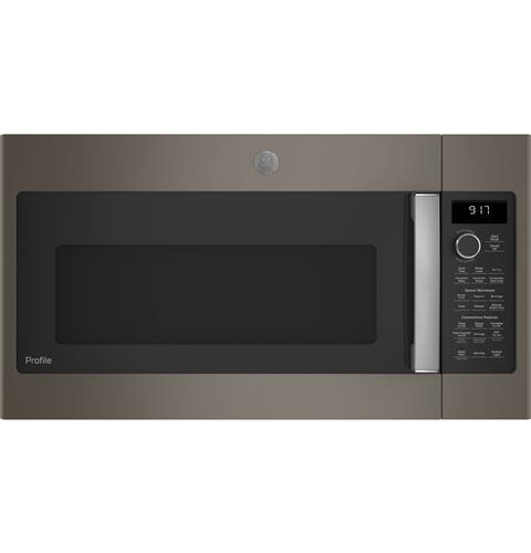 GE Profile™ 1.7 Cu. Ft. Convection Over-the-Range Microwave Oven– Model #: PVM9179EKES