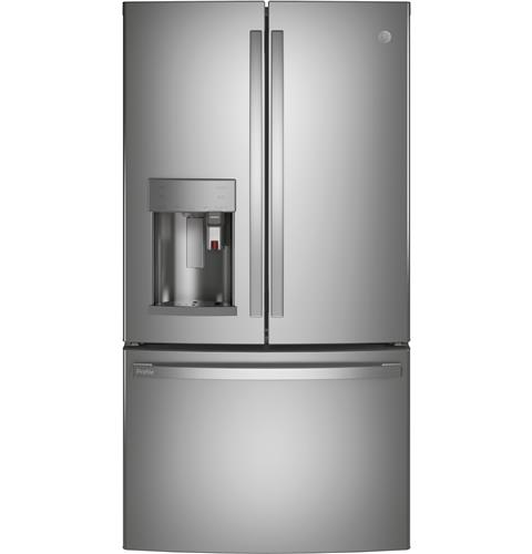 GE Profile™ Series ENERGY STAR® 22.1 Cu. Ft. Smart Counter-Depth French-Door Refrigerator with Keurig® K-Cup® Brewing System– Model #: PYE22PYNFS