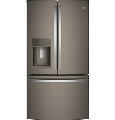 GE Profile™ Series ENERGY STAR® 22.1 Cu. Ft. Counter-Depth French-Door Refrigerator with Hands-Free AutoFill– Model #: PYE22KMKES