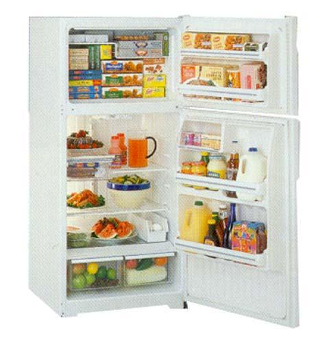 GE, 440 ltr , Glass Shelves, White Handle, Clear Interior