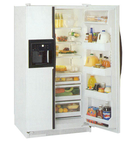 GE Side-by-Side, No Frost,700 Liters (Freezer 247 Liters),  Electronic Dispenser